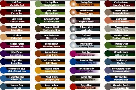 citadel paints color chart car interior design