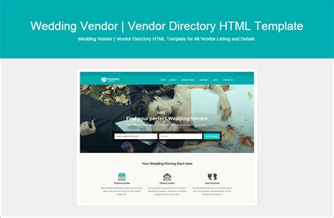 Html Wedding Website Templates Themes Free Premium Vendor Website Template