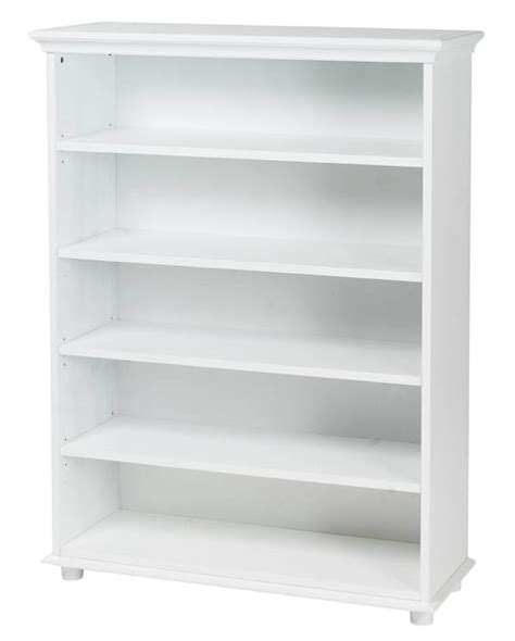 Big White Bookshelf 5 Shelf Bookcase By Maxtrix Shown In White