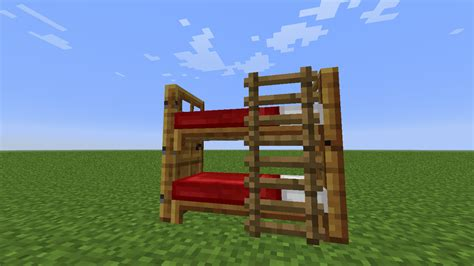 how to build a bed in minecraft how do you make a bunk bed in minecraft
