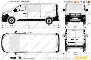 Vauxhall Vivaro Length The Blueprints Vector Drawing Opel Vivaro L2h1 Combi