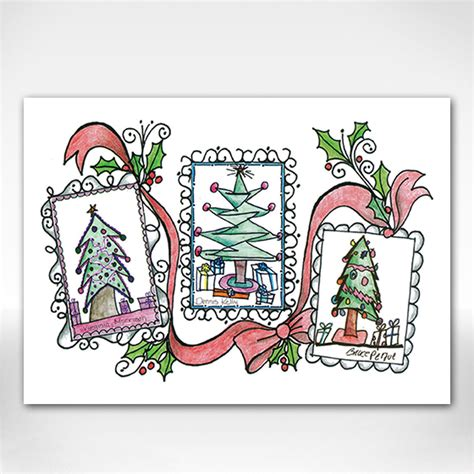 Christmas Tree Shop Gift Card - christmas tree holiday cards envelopes set of 10 dale rogers training center
