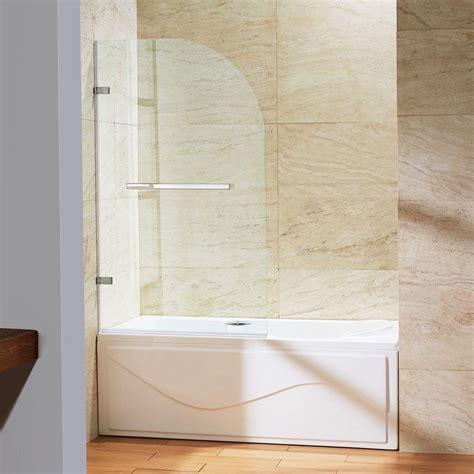 Vigo Orion 34 In X 58 In Frameless Curved Pivot Tub Home Hardware Shower Doors