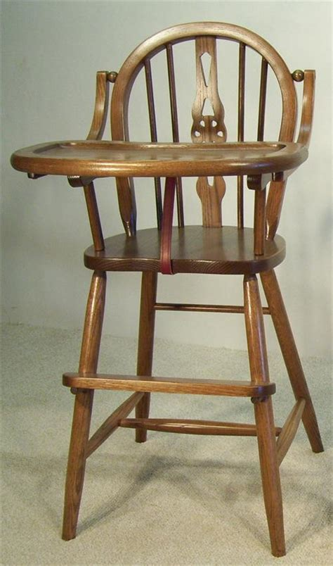 Amish Wooden High Chair by Amish High Chair