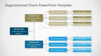 organizational chart ppt template horizontal orgchart powerpoint diagram slidemodel