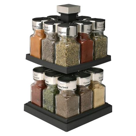 Rotating Spice Organizer Olde Thompson Square Rotating Spice Rack 16 Jars Target