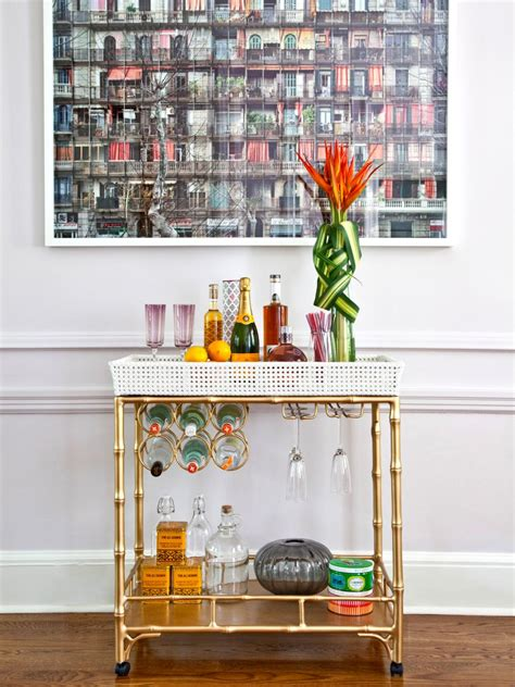 decorating a home bar how to style the bar cart hgtv