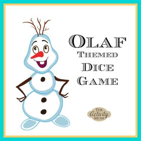 printable olaf game the activity mom olaf dice game the activity mom