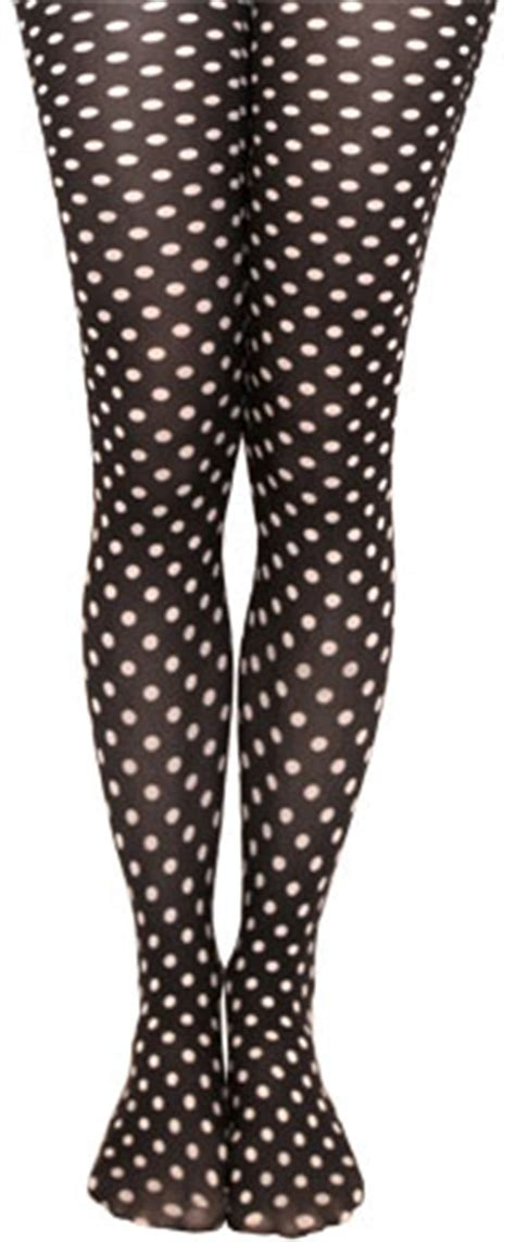Polka Legging Printed Compression Tight footless polka dot tights black white blue