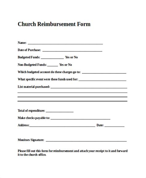 reimbursement form template sle reimbursement form 9 exles in pdf word excel