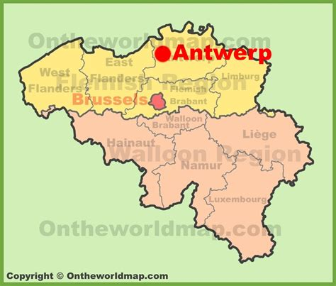 where is belgium on the map antwerp location on the belgium map
