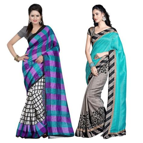 Promo Sari New Pack janasya designer saree combo pack of 2 at 60 offer clothing janasya designer saree