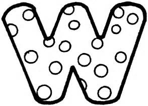 letter w dots colouring pages