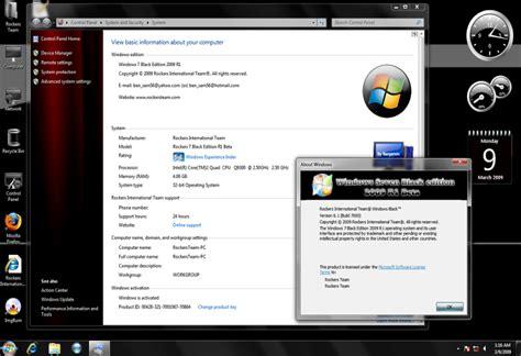 windows 7 ultimate themes black edition windowsmod windows 7 ultimate black edition 2009 beta 32bit