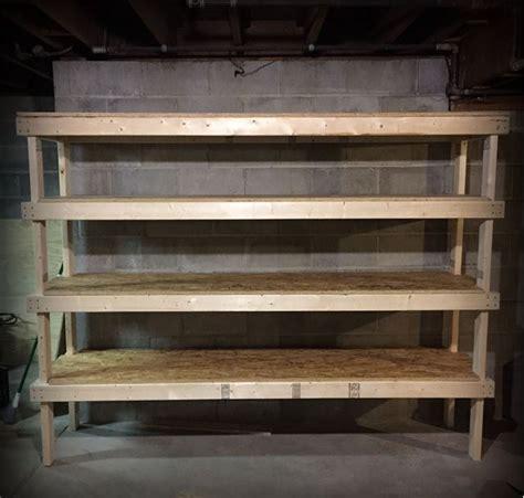 diy garage shelves  meet  storage  home