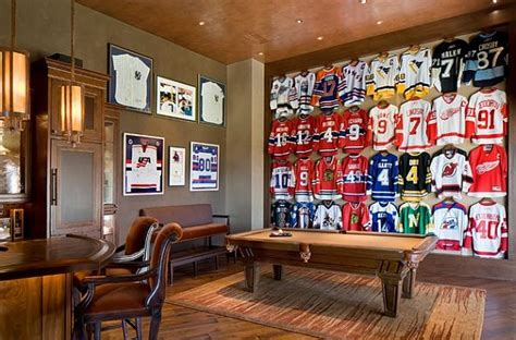 teenage man cave bedroom ideas framed jerseys from sports themed teen bedrooms to