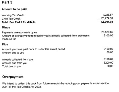 Tax Credit Award Letter Lost Claim Form Claim Form Working Tax Credits