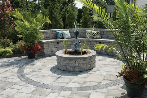 Firerock Outdoor Fireplace - ep henry solitaire pond kit pewter blend 3 quot amp 6 quot coventry double sided wall pewter blend