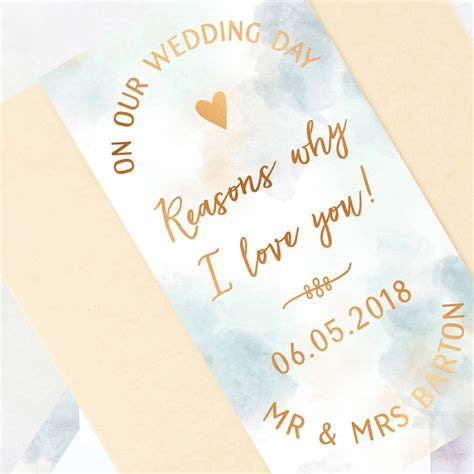 husband wedding day gift reasons i love you by norma