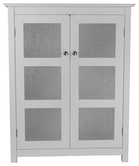 Floor Cabinets With Glass Doors Connor Floor Cabinet With 2 Glass Doors Traditional Bathroom Cabinets And Shelves By