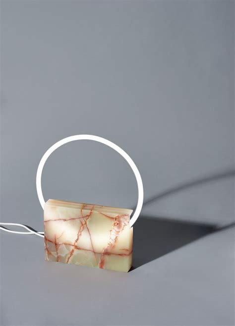 design milk submissions a lighting collection that merges marble with neon lights