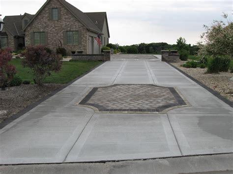 Pavers Or Concrete Patio Paver Driveway Custom Built Driveway Muskego Wi