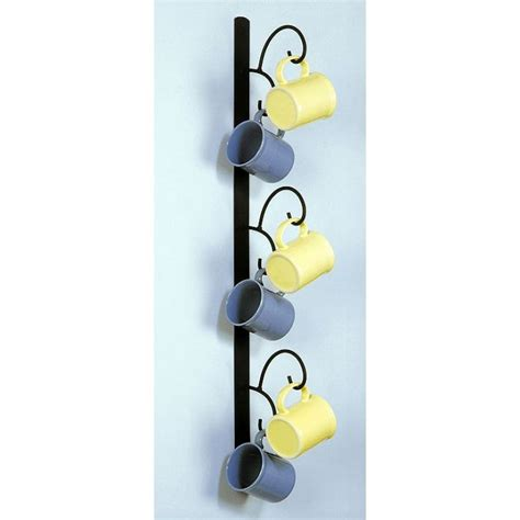 wall mounted mug rack vertical decor