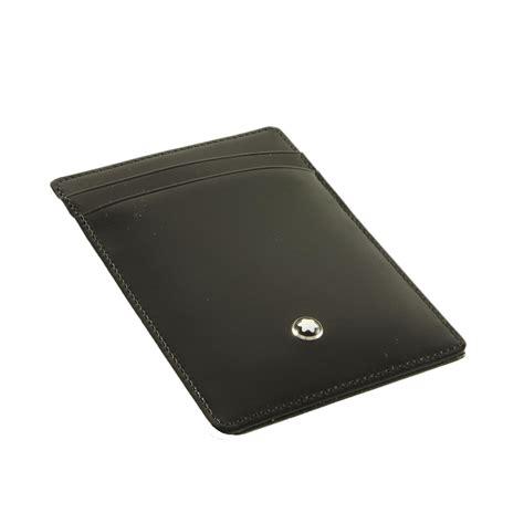 porta carte di credito in pelle porta carte di credito in pelle nera con clip per