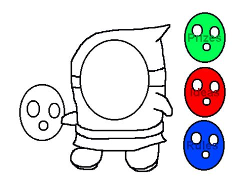 shy guy coloring contest entry or whatever