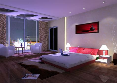 splendid big bedroom with fantastic led lights decor and