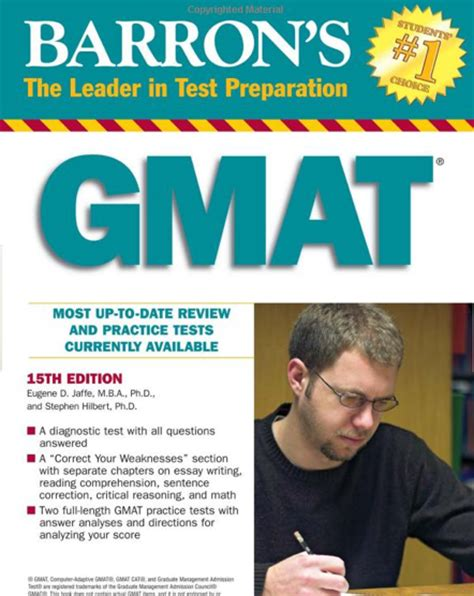 Mba Preparation by Barrons Gmat Prep Book Mba Student Reccommended A Few