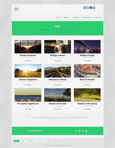 minimal html5 portfolio template by pixelsmarket on deviantart