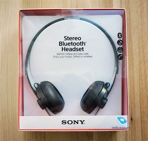 Headset Sony Sbh 60 mobile review bluetooth sony sbh 60