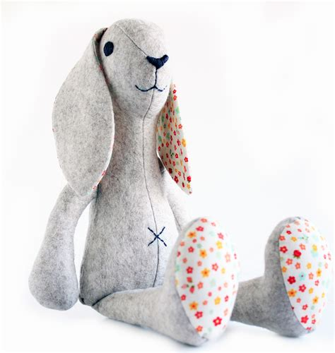 sewing pattern stuffed animal bunny rabbit sewing pattern stuffed toy sewing pattern