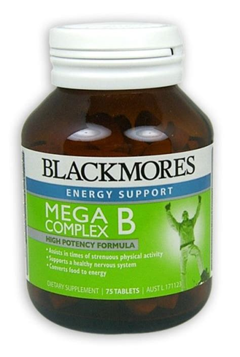 Blackmores Vitamin B Complex buy blackmores mega b complex tablets 75 at health chemist pharmacy