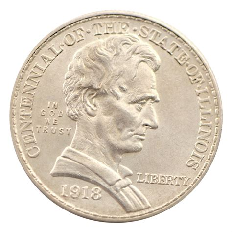 life of abraham lincoln coin 1918 lincoln illinois commemorative half dollar uncirculated