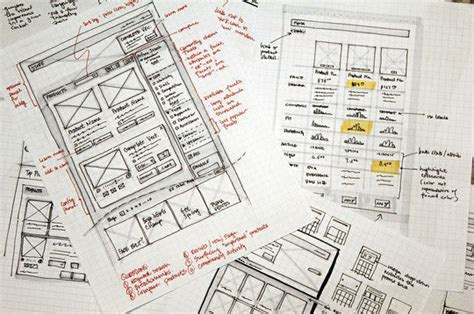 Sketches And Wireframes by Webdesignsketches24 40 Exles Of Web Design Sketches And