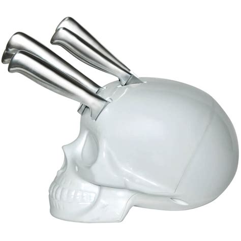 Amazon Kitchen Knives skull kitchen knife block silver chrome buy from