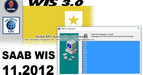 global epc automotive software saab wis workshop
