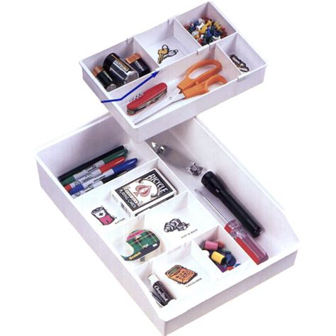 clutter buster drawer organizer large in desk drawer