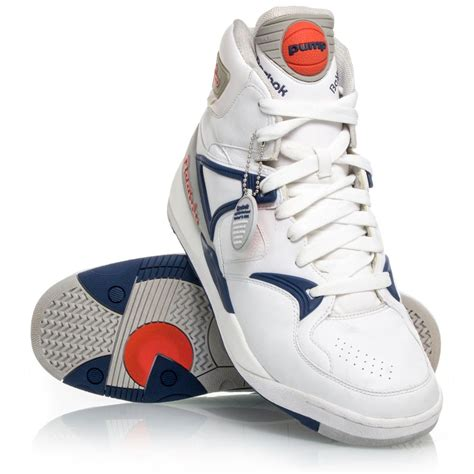 navy and white basketball shoes reebok the bringback mens basketball shoes white
