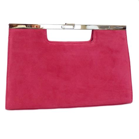 Pink Clutch kaiser wye clutch bag in pink suede mozimo