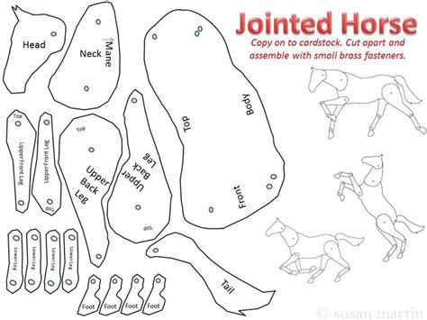 horse templates for photoshop horse template for drawing and collage chinese new year