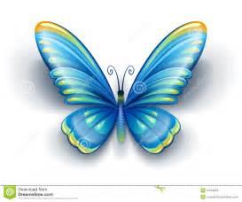 borboleta azul asas da cor foto de stock royalty free
