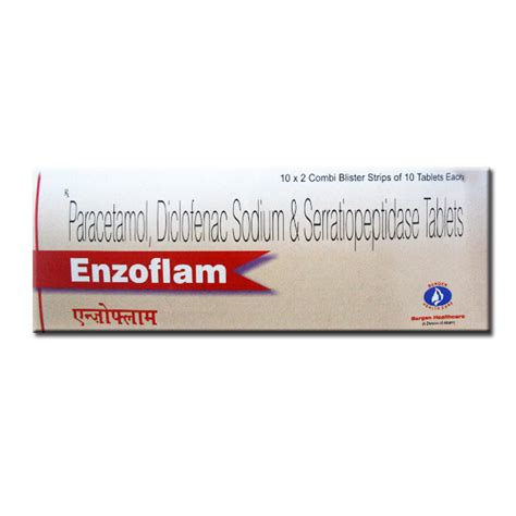 enzoflam tab 10 tablets in strip online medical store india