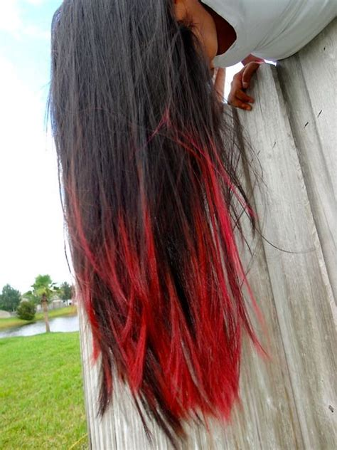 i dyed my hair red and it turned black best 25 red dip dye hair ideas on pinterest red dip dye