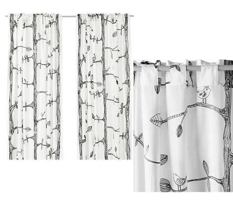 ikea curtain rod instructions new ikea eivor curtain w 2 panels black white ebay