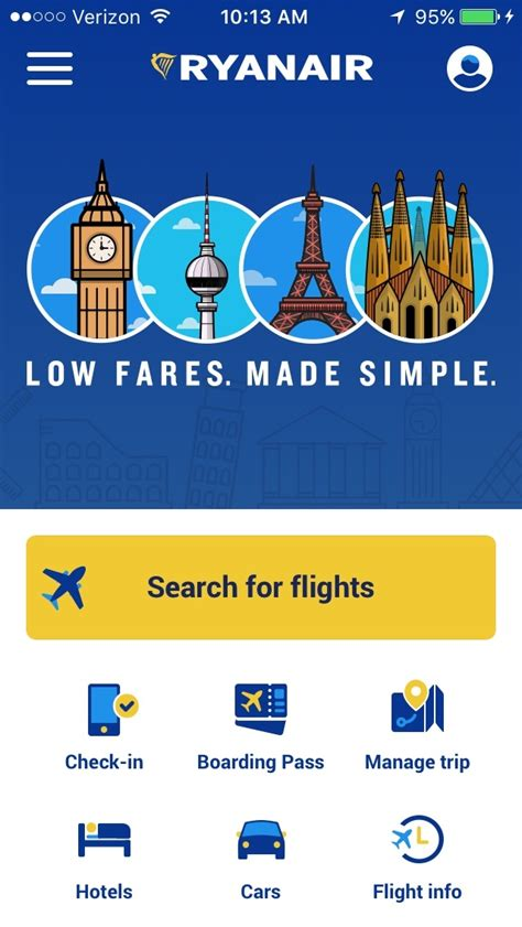 ryanair mobile ryanair mobile apps airline mobile apps