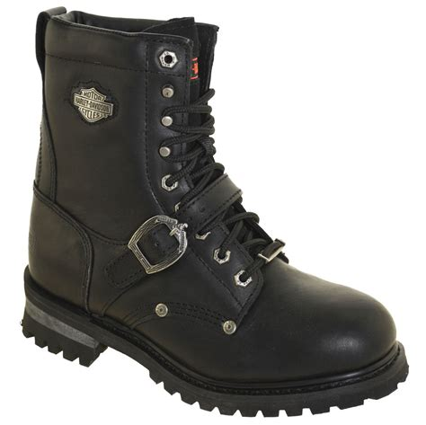 high top motorcycle harley davidson men s faded glory boots 91003 black ebay