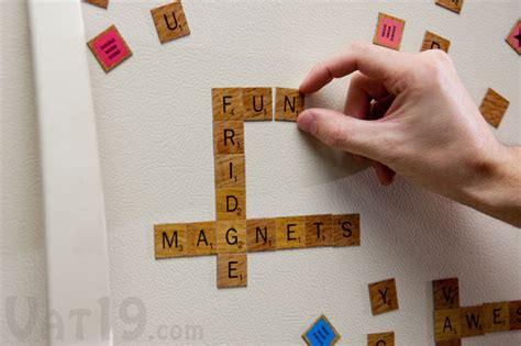is aj a scrabble word scrabble magnetic fridge tiles craziest gadgets